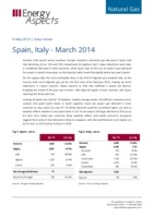 Spain, Italy gas data – April 2014 cover image