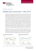 Middle East oil demand - Mar 2014 cover