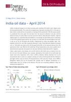 India oil data – April 2014 cover image
