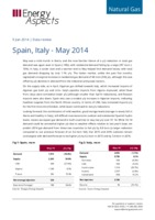 Spain, Italy gas data – May 2014 cover image