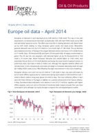 Europe oil data – April 2014 cover image