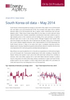 South Korea oil data – May 2014 cover image