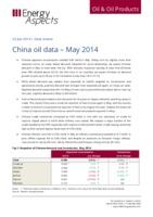 China oil data – May 2014 cover image