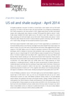US oil and shale output – April 2014 cover image