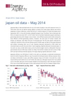 Japan oil data – May 2014 cover image