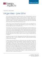 UK gas data – June 2014 cover image