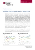 Middle East oil demand – May 2014 cover image