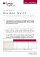 China oil data – June 2014 cover image
