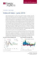India oil data – June 2014 cover image