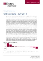 OPEC oil data – July 2014 cover image