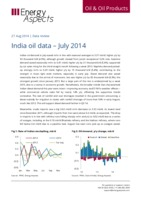 India oil data – July 2014 cover image