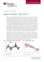 Japan oil data – July 2014 cover