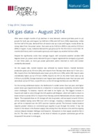 UK gas data – August 2014 cover image