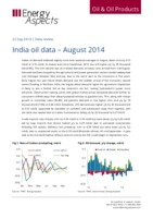 India oil data – August 2014 cover image