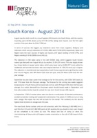 South Korea gas data - August 2014 cover image