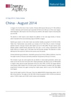 China gas data – August 2014 cover