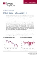 UK oil data – July/August 2014 cover image