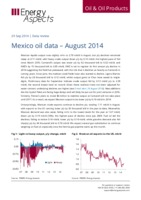 Mexico oil data – August 2014 cover image