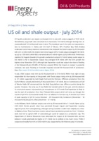US oil and shale output –  July 2014 cover image