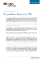 UK gas data – September 2014 cover image