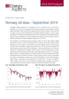 Norway oil data – September 2014 cover image