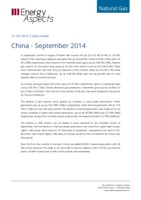 China gas data –  September 2014 cover image