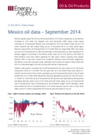 Mexico oil data – September 2014 cover image