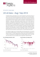 UK oil data – August/September 2014 cover image
