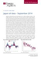 Japan oil data - September 2014 cover image