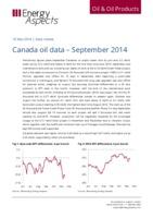 Canada oil data – September 2014 cover image