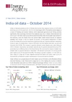India oil data – October 2014 cover image