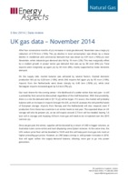 UK gas data – November 2014 cover image