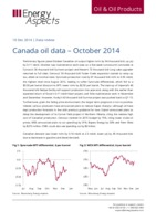Canada oil data – October 2014 cover image
