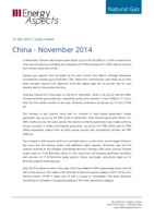 China gas data - November 2014 cover