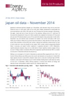 Japan oil data – November 2014 cover image