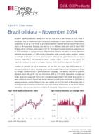 Brazil oil data – November 2014 cover image