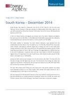South Korea gas data - December 2014 cover image