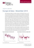Europe oil data - November 2014 cover image