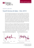 South Korea oil data – Dec 2014 cover image