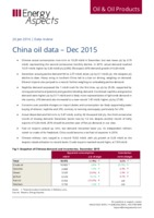 China oil data – Dec 2015 cover image