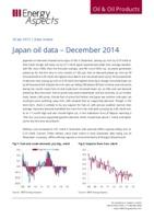 Japan oil data – December 2014 cover image