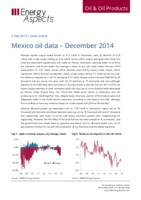 Mexico oil data – December 2014 cover image