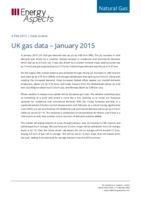 UK gas data – January 2015 cover image