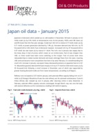 Japan oil data – January 2015 cover image