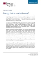 Energy Union – what is new? cover image