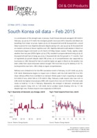 South Korea oil data - Feb 2015 cover image