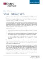 China gas data - February 2015 cover image