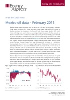 Mexico oil data – February 2015 cover image