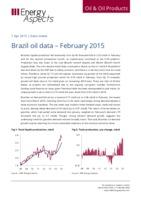 Brazil oil data – February 2015 cover image