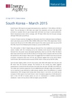 South Korea gas data - March 2015 cover image